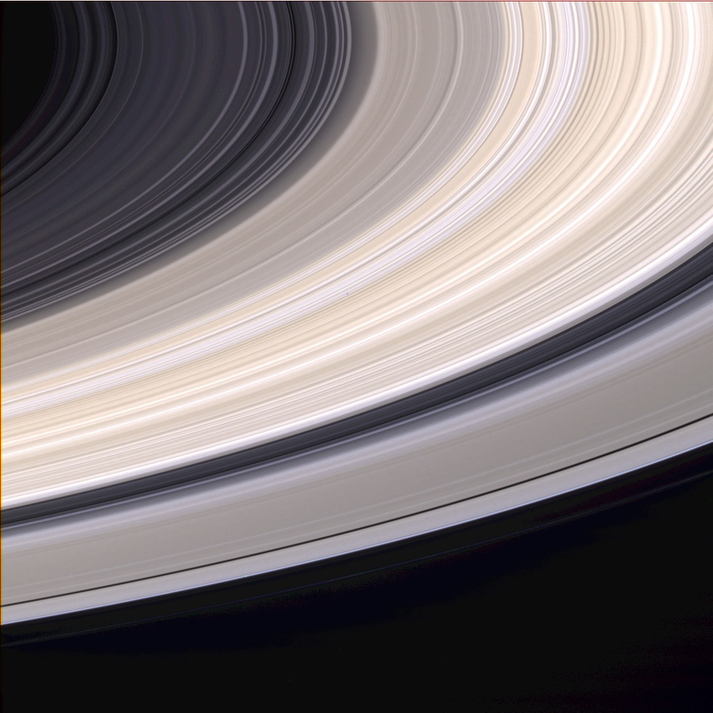 saturns rings closeup