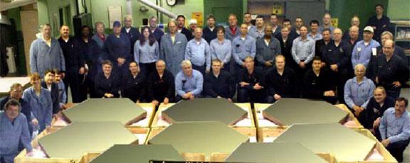 Beryllium Space Shuttle Beryllium mirror segmentsBeryllium Space Shuttle