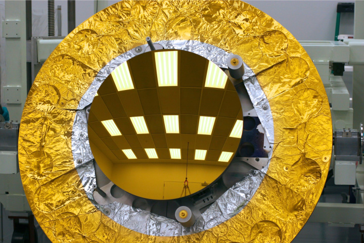 gold-coated primary mirror EDU